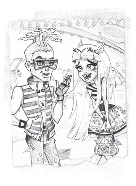 57 best pencil drawing Monster High art images on Pinterest ...