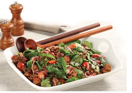Warm Bacon & Lentil Winter Salad #WarmBacon #LentilWinterSalad #WinterSalad