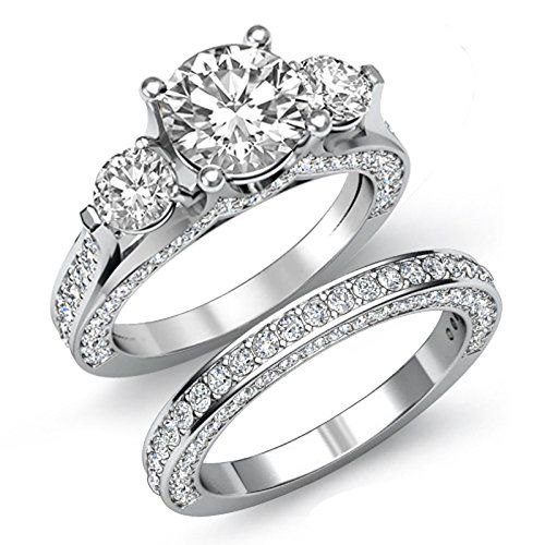 Solid stone wedding bands