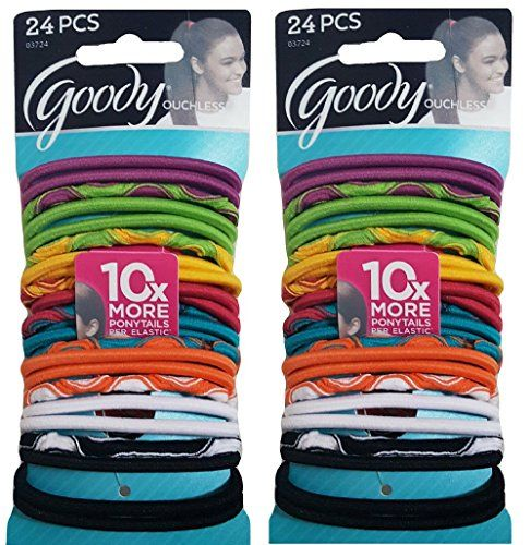 Goody Ouchless Elastic Hair Bands Colorful Variety Pack 24 Count 2 Pack     You can get more details by clicking on the image. (This is an affiliate  link)   ... ca5c71ec1b9
