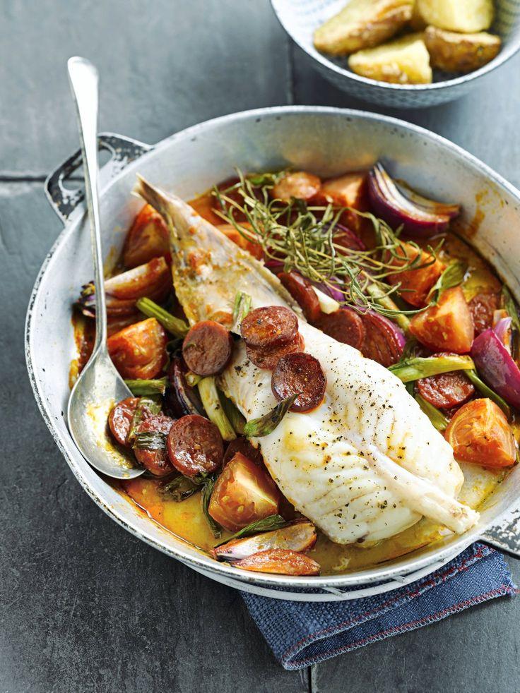 Un délicieux poisson, relevé par le piquant du chorizo, pour régaler toute la tablée !