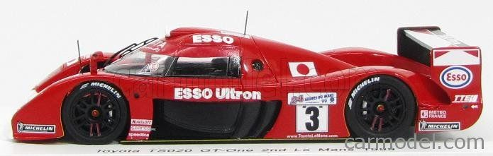 SPARK-MODEL S2384 Escala 1/43  TOYOTA GT-ONE 3.6L TURBO V8 TEAM TOYOTA MOTORSPORT EUROPE N 3 2nd 24h LE MANS 1999 U.KATAYAMA - K.TSUCHIYA - T.SUZUKI RED WHITE