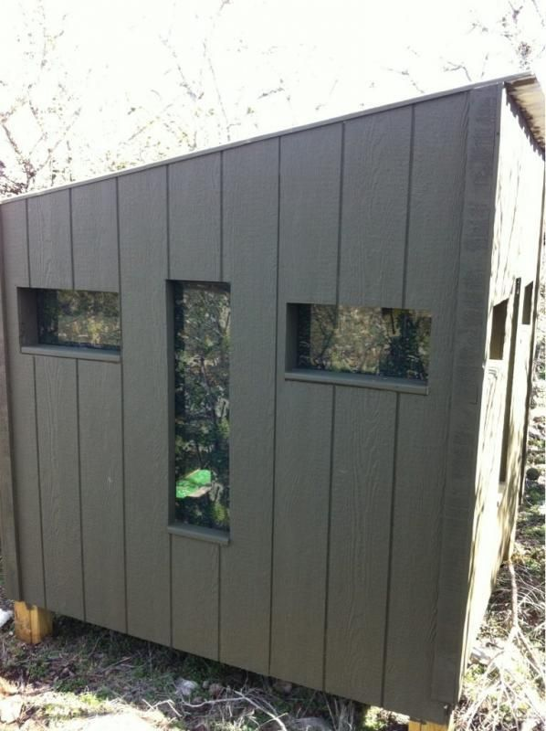 Camo Hinge Window Outside View Deer Blind Pinterest