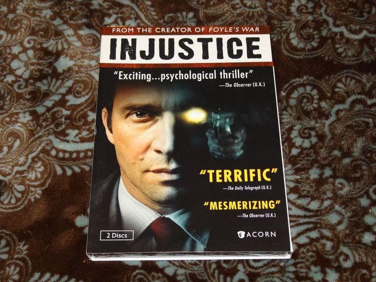 Injustice (DVD, 2012, 2-Disc Set) Acorn Media! British Thriller w/Slip! *SEALED*