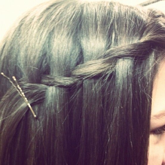 Waterfall twist! Super easy, fast, and cute! Alot of compliments given on this! - Click image to find more Hair & Beauty Pinterest pins