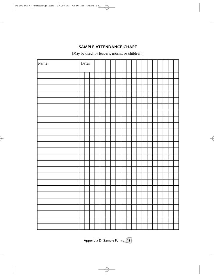 The  Best Attendance Chart Ideas On   Attendance List