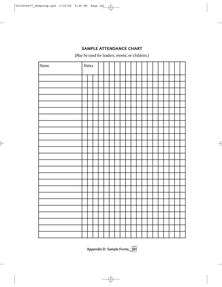 sunday school attendance sheet