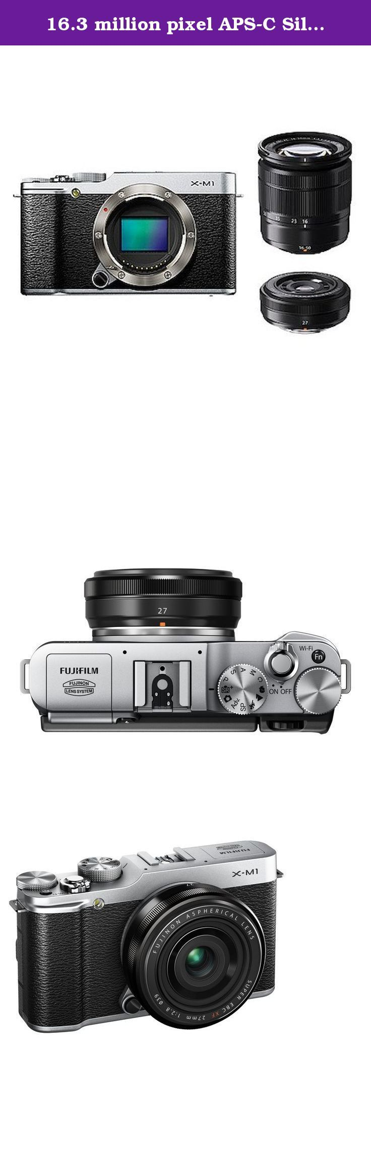 "16.3 million pixel APS-C Silver F X-M1S/1650/27KIT FUJIFILM digital single-lens camera X-M1 W lens kit zoom lens attached. The high image quality comparable to full-size machine with a compact body The ""X-Trans CMOS"" sensor deployment. I can enjoy high-quality shooting quickly and operable! Easy and intuitive one-handed. High-definition tilting LCD monitor, Wi-Fi communication, built-in flash and various functions installed in the body of the feel of a material that is high quality. Ideal..."