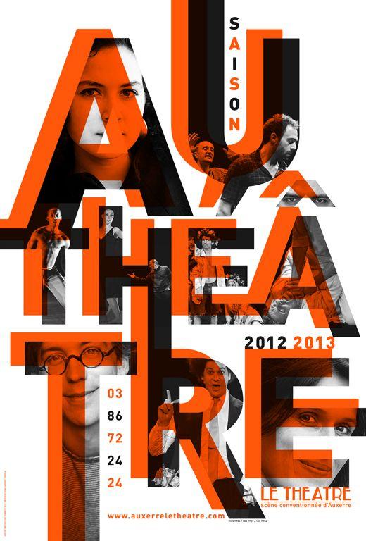 Anette Lenz, Vincent Perrottet / Au Théâtre - Saison 2012-2013.  Centre International de Graphisme - Chaumont.