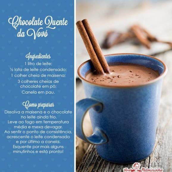 Chocolate quente da Vovó- MSN Estilo