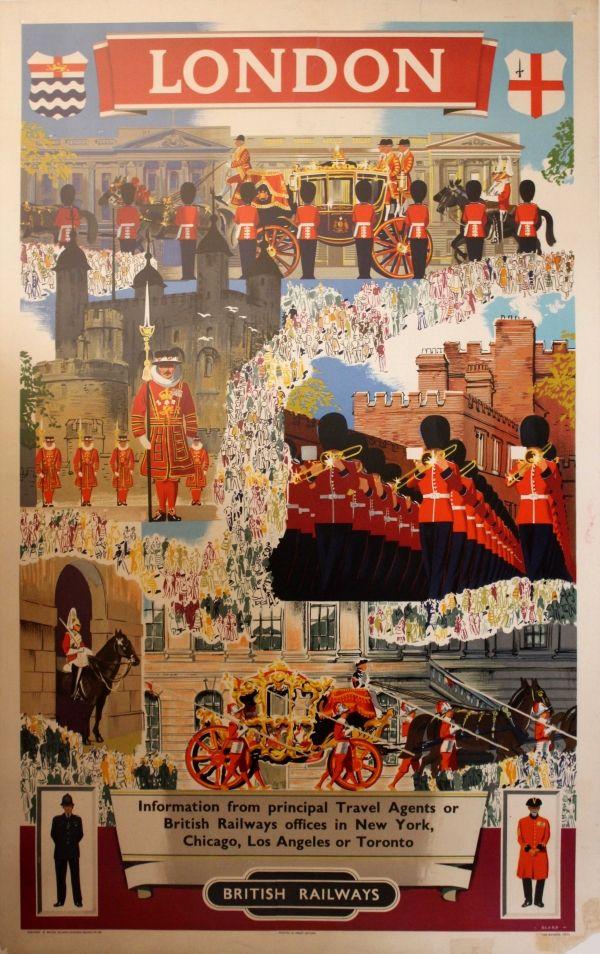 Original Vintage Posters -> Travel Posters -> #London, British Railways