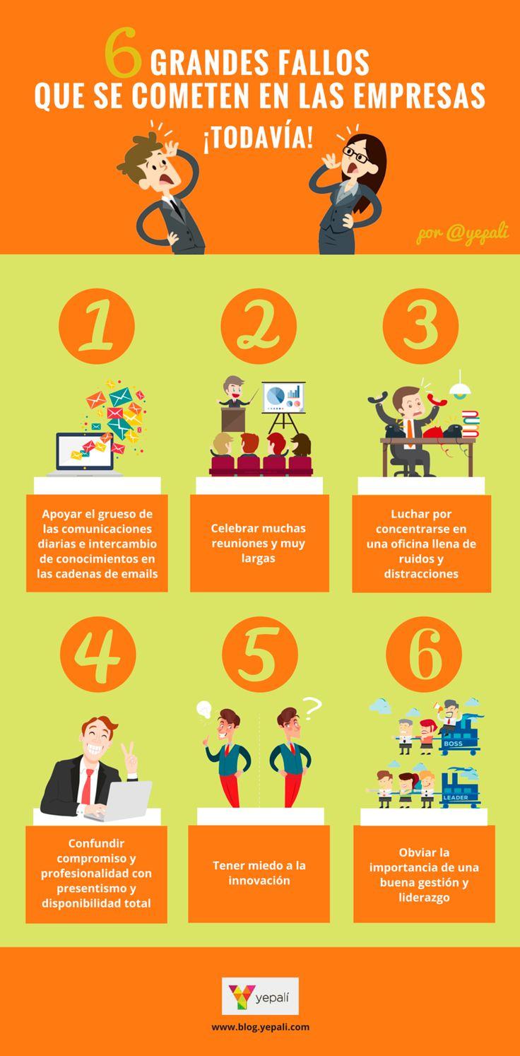 6 grandes fallos que se cometen en las empresas todavía | Yepalí | Mirando la Nube