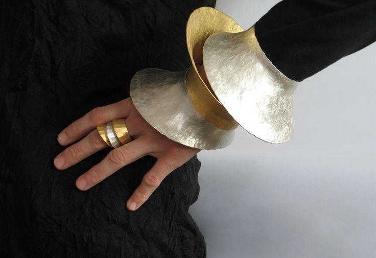 Bracelets & Rings | Violetta Elisa Seliger. Fine silver and fine silver gold plated