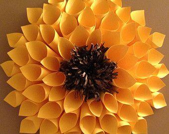 Amarillo girasol de papel Dalia