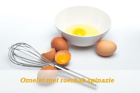 Omelet met roerbak spinazie en tomaat – wrapstyle