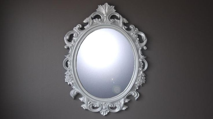 Mobilier Moss miroir baroque argente calinka - 199€