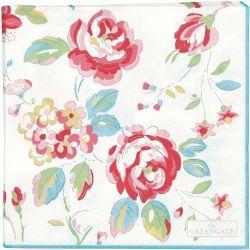 GreenGate Paper Napkin - Amanda White Large 20 pcs