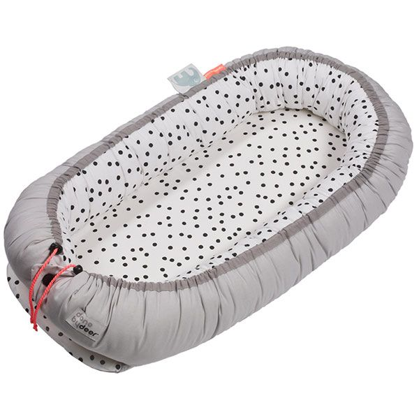 #DonebyDeer #Dots #Cozy #Babynest - #cocoon - grijs #baby #littlethingz2