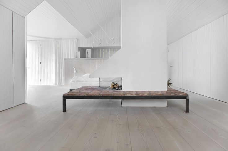 Wooden flooring with wood stove - Douglas by Dinesen