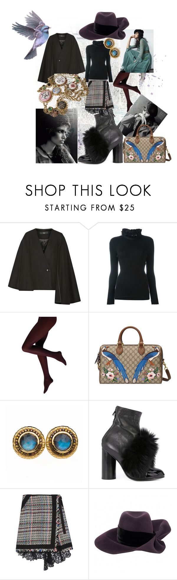 """Без названия #66"" by marina-antipanova ❤ liked on Polyvore featuring TIBI, Fendi, Gucci, Susan Wheeler Design, Valas, Sacai, Louis Vuitton and Chanel"