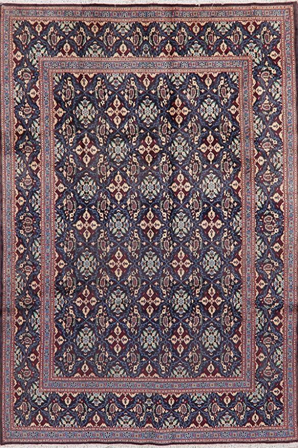 Tuscan Navy Blue Mood Persian Area Rug Wool Handmade Geometric Oriental Carpet 7x10 6 9 X 10 0 In 2020 Persian Area Rugs Wool Area Rugs Oriental Carpets
