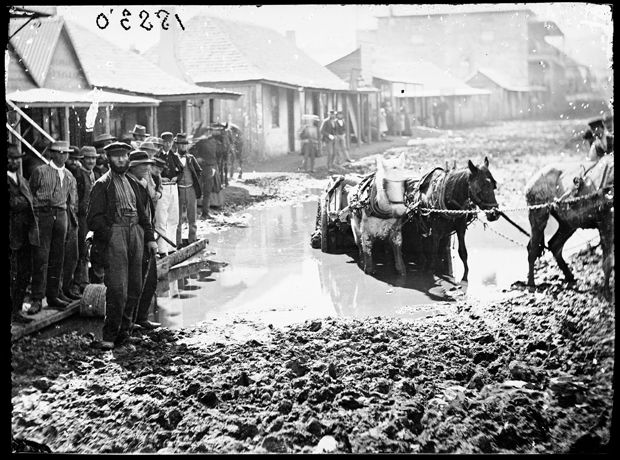 Australia's Gold Rush ~ Clarke Street, Hill End, NSW, 1872