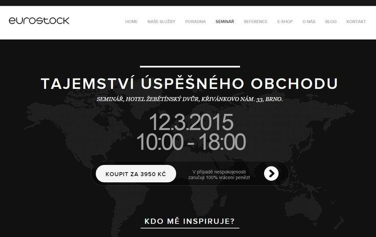 Prodej vstupenek na živou akci pro podnikatele. Made with ♥ in Brno by Steiner Media
