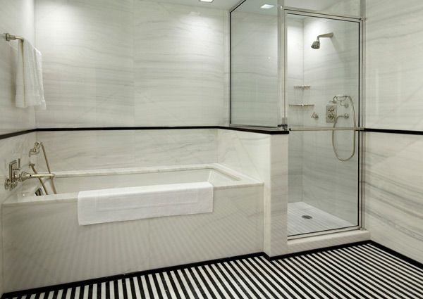 White Tile Shower Ideas | Subway Tile Bathroom Ideas for Your House Black and White Subway
