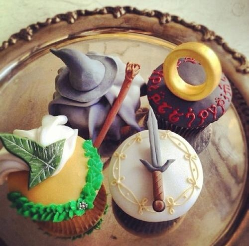 LOTR inspired cupcakes