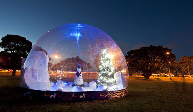 Cadburys Xmas snowdome, brought to life each year with LED floodlights and custom programmed DMX control system