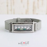 Locket of the month for March. The locket bracelet, chevron screen, and 3 crystals is available now for $54.67. www.southhilldesigns.com/kkennedy under 'promotions'