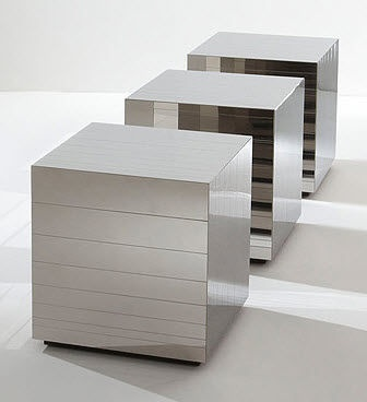 contemporary metal coffee table CUBO by Bartoli Design