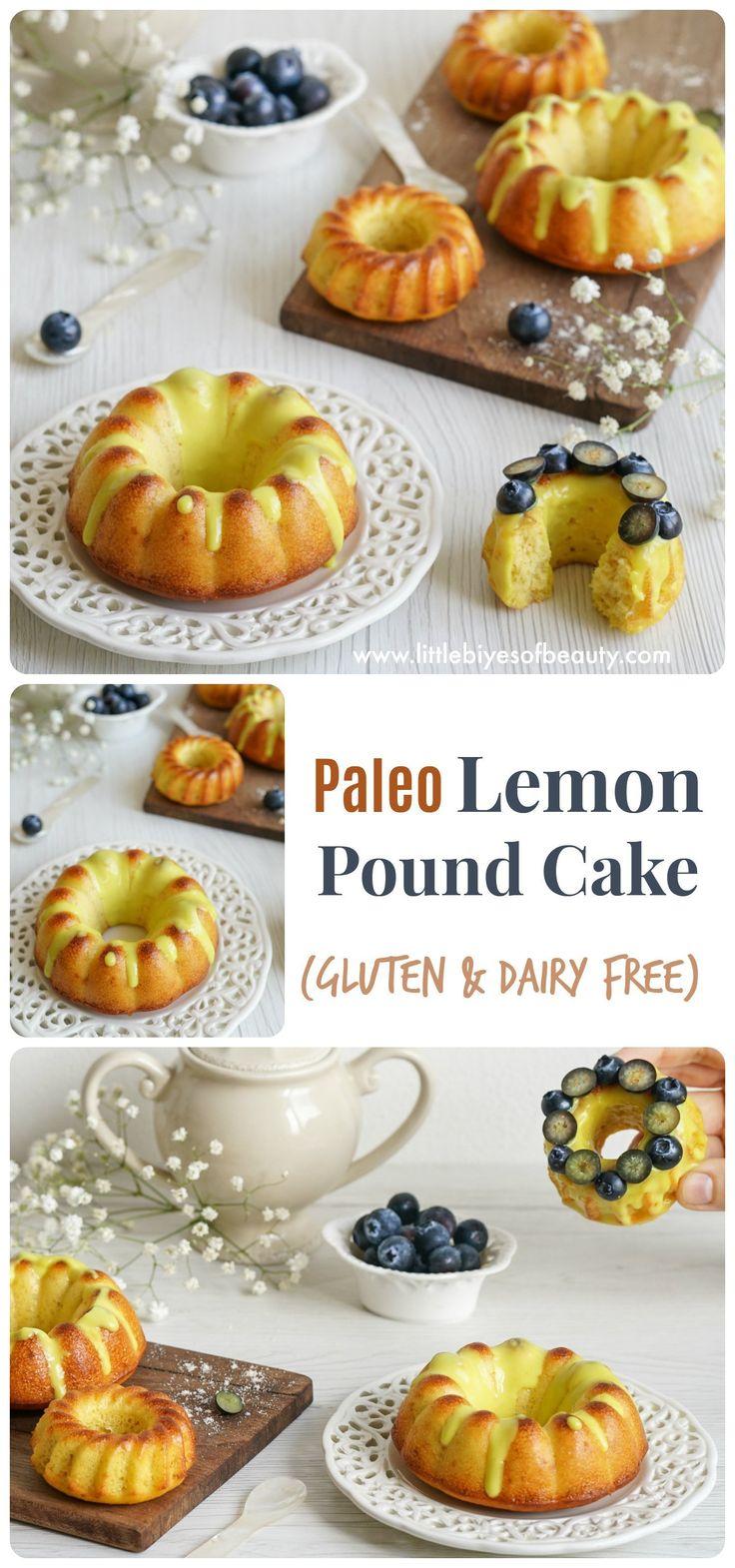 Paleo Lemon Pound Cake (Dairy & Gluten Free