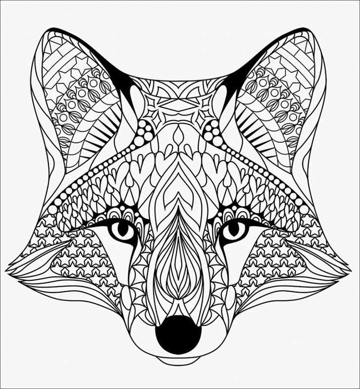 Resultado de imagen para mandalas para colorear de animales lobo