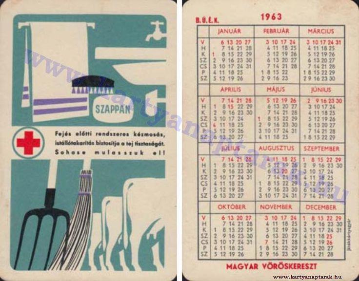 1963 - 1963_0101 - Régi magyar kártyanaptárak