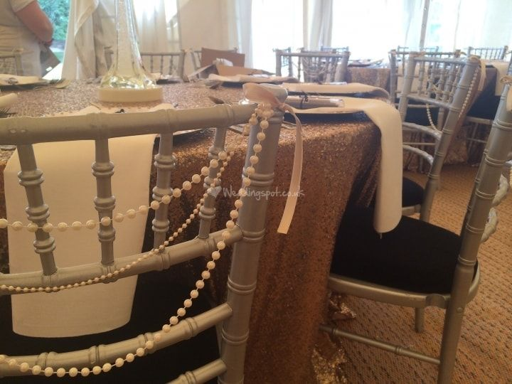 Pearl & Ribbon Chair Sash from Affordable Dreams | Photo 3