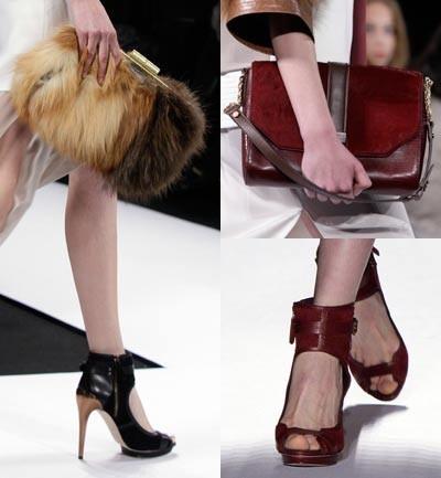 BGBG Complementos, bolsos peludos, estilo cartero y zapatos peep-toes