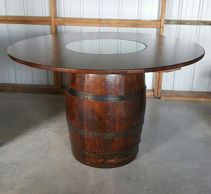 Whiskey Barrel Table Authentic Charred With 56 Removable Top Nice