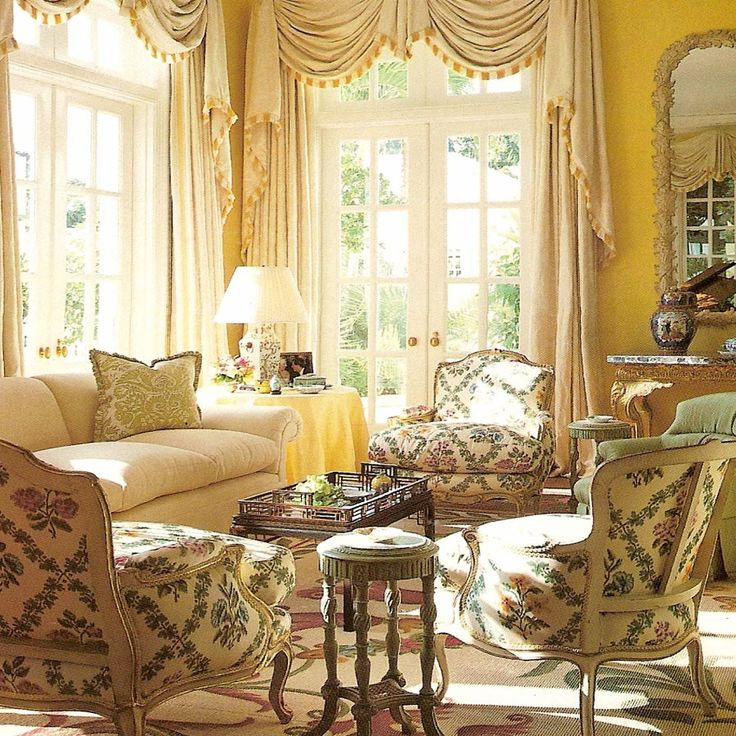 There's just something about yellow! Picture of Elegance Blog: Mark Hampton's Vision: A Mark of Excellence