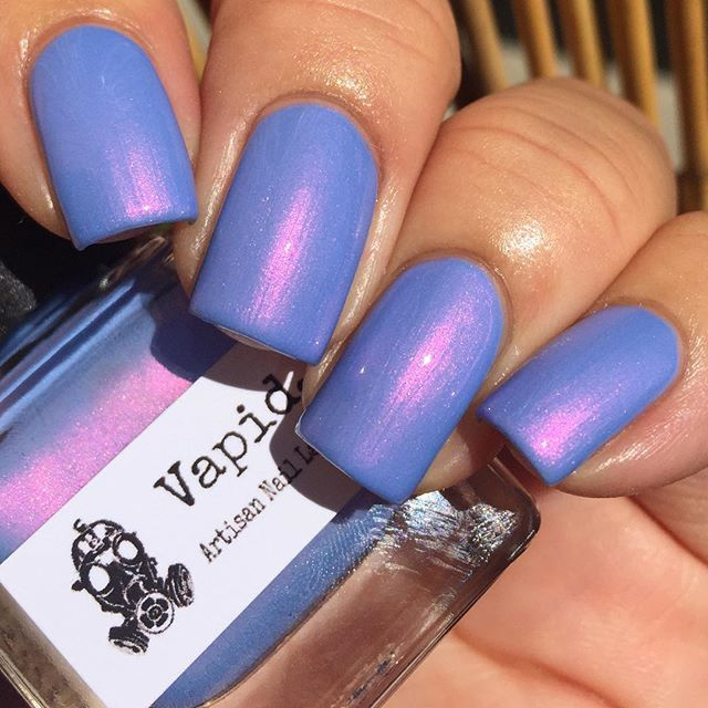 Vapid Lacquer: ❤ Wanderlust ❤ ... a  periwinkle nail polish with pink to gold/copper shimmer