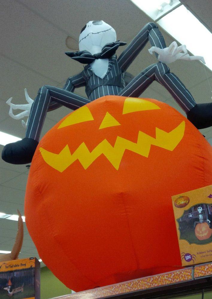 Jack Head Nightmare Before Christmas Halloween Pumpkin Airblown ...