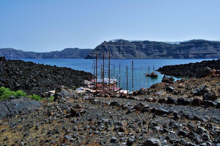 Port of Nea Kameni - Santorini - Greece https://www.flickr.com/photos/123291499@N03/19118868866/