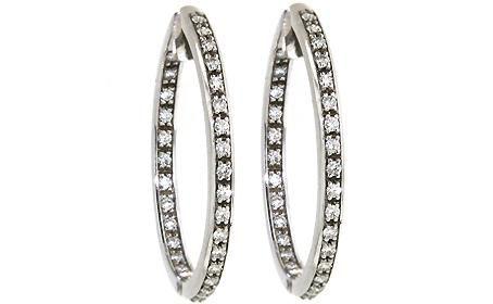diamond hoop earrings!