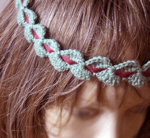 crochet headband hair band green headband Boho by selenayselenay, $22 ...