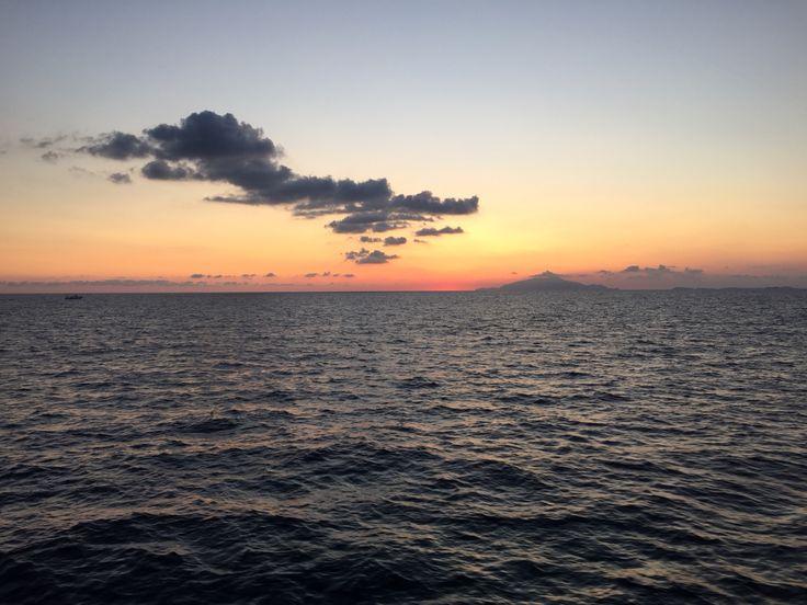 Vesuvius seen from Capri-island! Amazing moments! www.capritravelguide.com