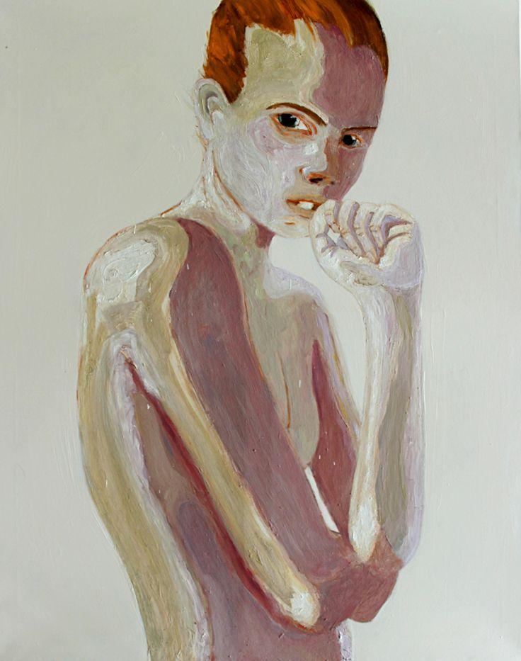 Berlin Girl 2013-14, Oil on canvas 150x120cm Per Adolfsen