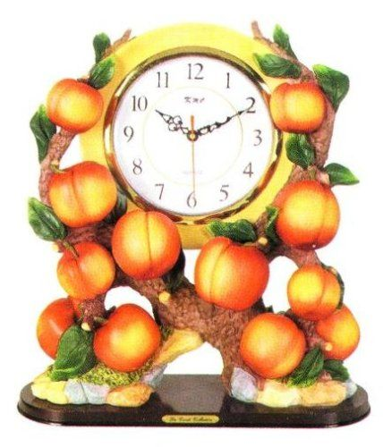 Delightful PEACH 3D Shelf Mantle Clock W/ GREAT Detail *NEW*! KMC/KK. Peach  KitchenKitchen ThemesKitchen DecorMantle ...