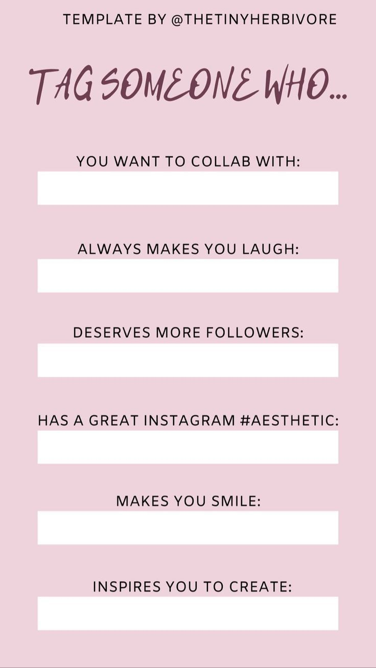 Tag Someone Instagram Story Idea The Tiny Herbivore Instagram Story Ideas Best Instagram Stories Instagram Story Template