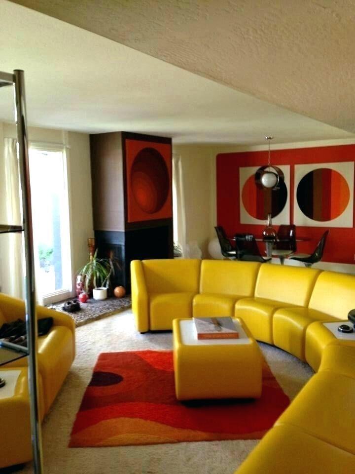 70er Jahre Room Decor Midcentury Interior Sofa Mustard Stileinrichten Mobel70er Trends Jahrebad 50er Retro J Innenarchitektur Mobel 70er Mobeldesign