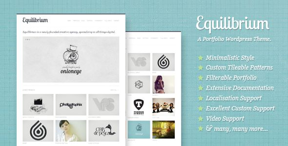 Equilibrium: Clean and Modern WP Portfolio Theme